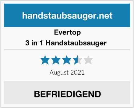 Evertop 3 in 1 Handstaubsauger  Test