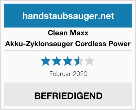 Clean Maxx Akku-Zyklonsauger Cordless Power Test