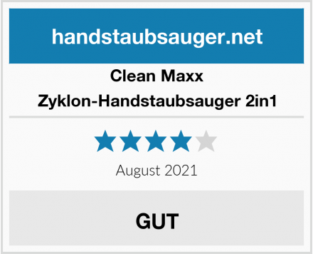 Clean Maxx Zyklon-Handstaubsauger 2in1 Test