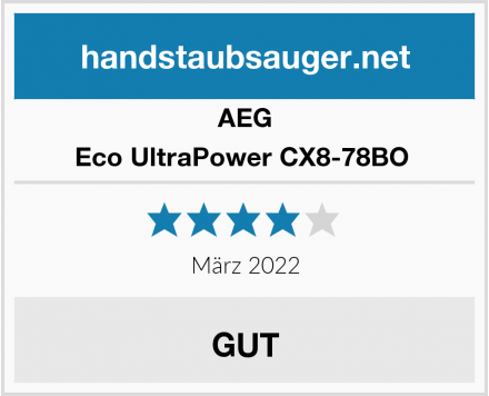 AEG Eco UltraPower CX8-78BO  Test