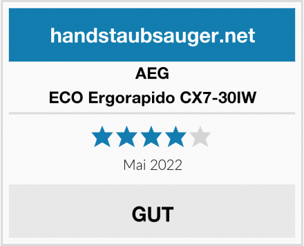 AEG ECO Ergorapido CX7-30IW Test